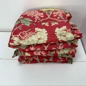 Pottery Barn Pillow Shams Padded 25x25